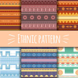 Set with  ethnic patterns Stock Images