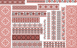 Set of Ethnic Patterns for Embroidery Stitch Stock Image