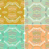 Set of ethnic seamless pattern. Aztec geometric background. Hand drawn navajo fabric. vector illustration