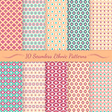 Set of ethnic seamless patterns. Royalty Free Stock Image