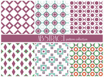 Set of ethnic seamless patterns. Aztec geometric background. Hand drawn navajo fabric. Modern abstract wallpaper. Stock Photo