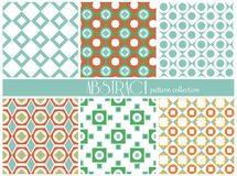 Set of ethnic seamless patterns. Aztec geometric background. Hand drawn navajo fabric. Modern abstract wallpaper. Stock Images