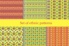 Set of ethnic seamless patterns. Stock Images
