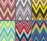 Set of ethnic seamless patterns. Modern abstract wallpaper Royalty Free Stock Photo
