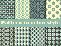 Set of ethnic seamless patterns. The pattern for wallpaper, tiles, fabrics and designs. Stock Photos