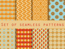 Set of ethnic seamless patterns. The pattern for wallpaper, tiles, fabrics and designs. Stock Photography
