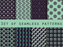 Set of ethnic seamless patterns. The pattern for wallpaper, tiles, fabrics and designs. Royalty Free Stock Images
