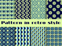 Set of ethnic seamless patterns. The pattern for wallpaper, tiles, fabrics and designs. Vector Stock Photography