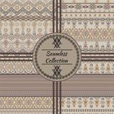 Set of ethnic tribal geometric patterns Stock Photos