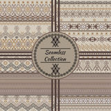 Set of ethnic tribal geometric patterns Stock Images