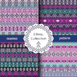 Set of ethnic tribal geometric patterns Royalty Free Stock Image