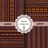 Set of ethnic tribal patterns Royalty Free Stock Photos