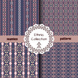 Set of ethnic tribal patterns Stock Images