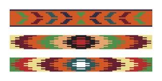 Ethnic Ukrainian seamless patterns Stock Photo