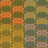 Set of ethno patterns. Set of four geometrical ethno seamless patterns in different color combinations Stock Photography