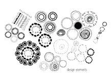 Set of ethnographic design elements doodle Royalty Free Stock Image