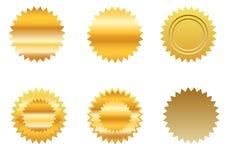 set etikett för guld vektor illustrationer