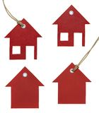 set etikett för hus Arkivbilder