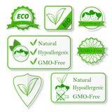 set etiketter för ekologi också vektor för coreldrawillustration Royaltyfria Foton