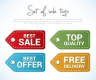 set etiketter för försäljning stock illustrationer