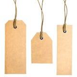 set etiketter för papper Arkivfoto