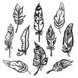 Set etniczna piórko wektoru ilustracja Zdjęcia Royalty Free