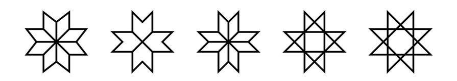 Set etniczni Baltic przecinający ornamentacyjni symbole również zwrócić corel ilustracji wektora ilustracja wektor