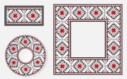 Set Etniczni ornamentu wzoru muśnięcia Obrazy Royalty Free