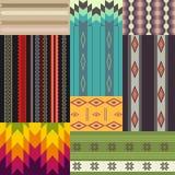 Set etniczni wzory Obraz Royalty Free