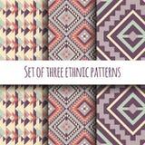 Set etniczny geometrical wzór Zdjęcia Stock