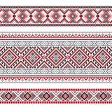 Set Etniczny ornamentu wzór w poligonalnym stylu Obrazy Royalty Free