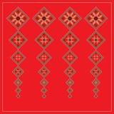 Set Etniczny ornamentu wzór w różnych kolorach również zwrócić corel ilustracji wektora Obrazy Stock