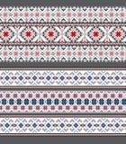 Set Etniczny ornamentu wzór w różnych kolorach Fotografia Stock