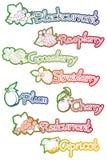 Set etykietki dla owocowego dżemu Obraz Stock