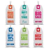 Set etykietki dla sprzedaży ilustracji