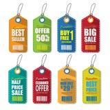 Set etykietki dla sprzedaży ilustracja wektor