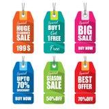 Set etykietki dla sprzedaży Zdjęcia Stock