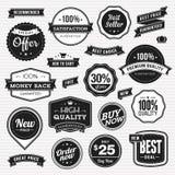 Set etykietki i faborki dla sprzedaży royalty ilustracja