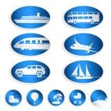 Podróży etykietki, logowie i majchery, Fotografia Stock