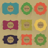 Set etykietki w rocznika stylu Ilustracji