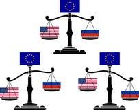 Set of EU scales Royalty Free Stock Image