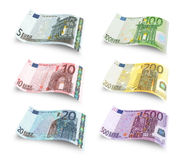 Set euro banknotes Stock Photo