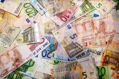 Set of euro banknotes. Stock Photos