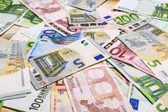 Set of euro banknotes. Royalty Free Stock Image
