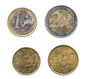 Set of euro coins in high resolution Royalty Free Stock Images