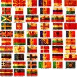 Set europäische Markierungsfahnen Lizenzfreies Stockbild