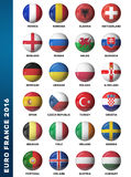 Set of Europe soccer balls Royalty Free Stock Images
