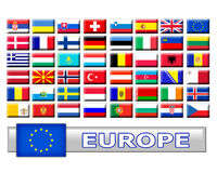 Set of european country flags stock image