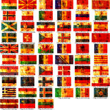 Set of european flags Royalty Free Stock Image