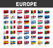 Set of European flags Stock Images
